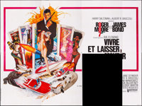 """Live and Let Die (United Artists, 1973). Folded, Fine+. Partial French Eight Panel (156"""" X 117""""). Robert McGin..."""