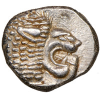 Ancients: IONIA. Miletus. Ca. late 6th-5th centuries BC. AR 1/12 stater or obol (10mm, 1.20 gm). NGC MS 5/5 - 4/5