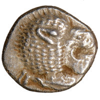 Ancients: IONIA. Miletus. Ca. late 6th-5th centuries BC. AR 1/12 stater or obol (10mm). NGC Choice XF