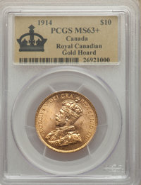 Canada: George V gold 10 Dollars 1914 MS63+ PCGS