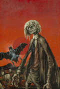 Paintings, Lee Brown Coye (American, 1907-1981). The Vampire, Weird Tales magazine cover, July 1947. Oil on canvasboard. 24 x 15-3/...