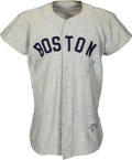 Baseball Collectibles:Uniforms, 1954 Jimmy Piersall Game Worn & Signed Boston Red Sox Jersey....