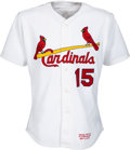 """Baseball Collectibles:Uniforms, 2000 Jim Edmonds Game Worn & Signed St. Louis Cardinals Jersey & Ticket from """"Jerseys Off Of Players Back"""" Game...."""