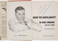 """Football Collectibles:Publications, 1963 Vince Lombardi Signed """"Run to Daylight!"""" Hardcover Book. ..."""