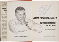 """1963 Vince Lombardi Signed """"Run to Daylight!"""" Hardcover Book"""