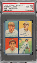 Baseball Cards:Singles (1930-1939), 1935 Goudey 4-In-1 Dickey/Lazzeri/Malone/Ruffing #4D PSA NM-MT 8 - Pop One, None Higher! ...