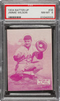 Baseball Cards:Singles (1930-1939), 1934-36 R318 Batter-Up Jimmie Wilson (Magenta) #38 PSA NM-MT 8 - Pop Two, None Higher! ...