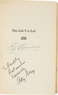 "1955 Babe Didrickson Zaharias & Patty Berg Signed ""This Life I've Led"" Book"