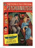 Golden Age (1938-1955):Horror, Psychoanalysis #1 (EC, 1955) Condition: FN-. Jack Kamen cover andart. White pages. Overstreet 2004 FN 6.0 value = $54. Fr...