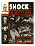 "Magazines:Crime, Shock Illustrated #1 (EC, 1955) Condition: VG/FN. EC's first""picto-fiction"" magazine, Shock Illustrated was the publish..."