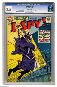 Showcase #50 I Spy! (DC, 1964) CGC VG- 3.5 Off-white pages. Carmine Infantino and Murphy Anderson cover and art. Overstr...