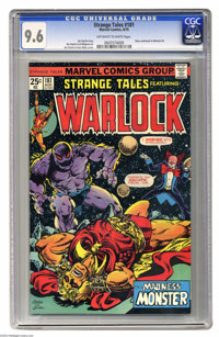 Strange Tales #181 Warlock (Marvel, 1975) CGC NM+ 9.6 Off-white to white pages. Jim Starlin and Alan Weiss cover art. St...
