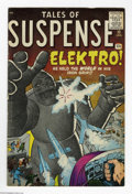 Silver Age (1956-1969):Adventure, Tales of Suspense #13 (Marvel, 1961) Condition: VG-. Elektro cover story. Jack Kirby and Steve Ditko cover art. Kirby, Ditko...