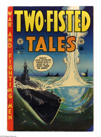 Two-Fisted Tales #32 (EC, 1953) Condition: FN. Underwater cover. Jack Davis, Joe Kubert, Johnny Craig and Wally Wood art...