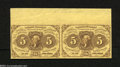 Fractional Currency:First Issue, Fr. 1230 5c First Issue Horizontal Pair Choice New. This ...