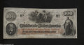 Confederate Notes:1862 Issues, T41 $100 1862. This Scroll 2 variety entertains light ...