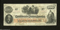 Confederate Notes:1862 Issues, T41 $100 1862. The interest paid rubber stamp on the back ...