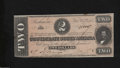 Confederate Notes:1864 Issues, T70 $2 1864. A couple of small spots are found on this ...