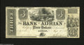Obsoletes By State:Michigan, Adrian, MI- Bank of Adrian $3 Sep. 10, 1838