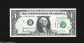 Error Notes:Doubled Third Printing, Fr. 1907-B $1 1969-D Federal Reserve Note. Gem Crisp ...