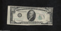 Error Notes:Foldovers, Fr. 2011-B $10 1950-A Federal Reserve Note. Very Fine-...
