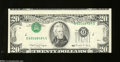 Error Notes:Miscellaneous Errors, Fr. 2077-G $20 $1990 Federal Reserve Note. Choice Crisp ...