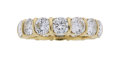 Estate Jewelry:Rings, Diamond, Gold Eternity Ring The ring features ...