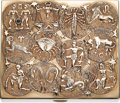 Estate Jewelry:Other, Sapphire, Gold Case The zodiac case features a...