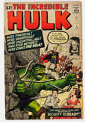 Silver Age (1956-1969):Superhero, The Incredible Hulk #5 (Marvel, 1963) Condition: VG....