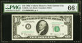 Low Serial Number 400 Fr. 2016-J $10 1963 Federal Reserve Note. PMG Gem Uncirculated 66 EPQ
