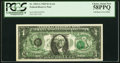 Full Back to Face Offset Error Fr. 1903-G $1 1969 Federal Reserve Note. PCGS Choice About New 58PPQ