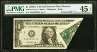 Printed Fold Error Fr. 1915-A $1 1988A Federal Reserve Note. PMG Choice Extremely Fine 45 EPQ