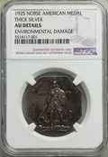 1925 Medal Norse, Thick Planchet, -- Environmental Damage -- NGC Details. AU. Mintage 31,750. ...(PCGS# 9450)