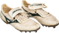 Baseball Collectibles:Others, Circa 1990 Rickey Henderson Game Worn & Signed Cleats.