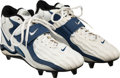 Football Collectibles:Others, 1998 Barry Sanders Game Worn Detroit Lions Cleats Attributed to 12/27/98 vs. Ravens - Final NFL Game!...