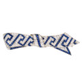 Estate Jewelry:Brooches - Pins, Diamond, Sapphire, Synthetic Sapphire, Platinum Brooch . ...