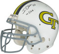 "Football Collectibles:Helmets, 2006-07 Tashard Choice Game Worn & Signed Georgia Tech Yellow Jackets ""Turn Back The Clock"" Helmet...."