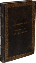Books:Signed Editions, Presentation Copy of the Constitution of the United States...with the Amendments Thereto, Signed by Millard Fillmo...