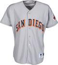 Baseball Collectibles:Uniforms, 1997 Tony Gwynn Hit #2,722 Game Worn & Signed San Diego Padres Jersey. ...