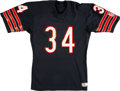 """Football Collectibles:Uniforms, Mid 1980's Walter Payton """"Sweetness"""" Signed Game Issued Chicago Bears Jersey...."""