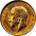 Canada: George V gold Sovereign 1914-C MS61 NGC
