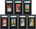 """Baseball Cards:Lots, 1909 E102 """"Set of 25"""" SGC-Graded Collection (7)...."""