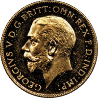Great Britain: George V gold Proof 1/2 Sovereign 1911 PR62 Cameo NGC