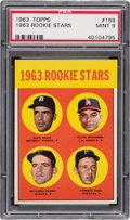 Baseball Cards:Singles (1960-1969), 1963 Topps Gaylord Perry - 1963 Rookie Stars #169 PSA Mint 9 - None Higher....