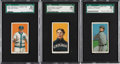 Baseball Cards:Lots, 1909-11 T206 Piedmont/Sweet Caporal SGC 80 EX/NM 6 Trio (3).... (Total: 3 items)