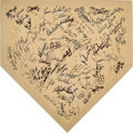 Autographs:Others, Late 1990s New York Yankees Signed Plate with Steinbrenner & Jeter. ...