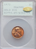 1972 1C Doubled Die Obverse MS65 Red PCGS. Gold CAC. PCGS Population: (1450/707). NGC Census: (692/211). CDN: $475 Whsle...