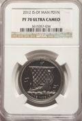 Isle of Man: British Dependency. Elizabeth II palladium Proof Noble (1 oz) 2012 PR70 Ultra Cameo NGC