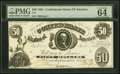 Confederate Notes:1861 Issues, T8 $50 1861 PF-7 Cr. 19 PMG Choice Uncirculated 64 EPQ.. ...