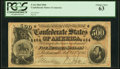 Confederate Notes:1864 Issues, T64 $500 1864 PF-2 Cr. 489 PCGS Choice New 63.. ...